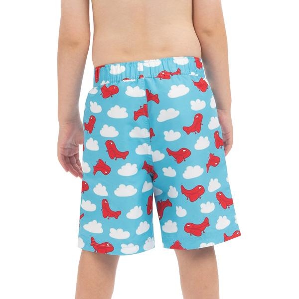 Boys' Little Dolfin Printed Swim Trunks alternate view