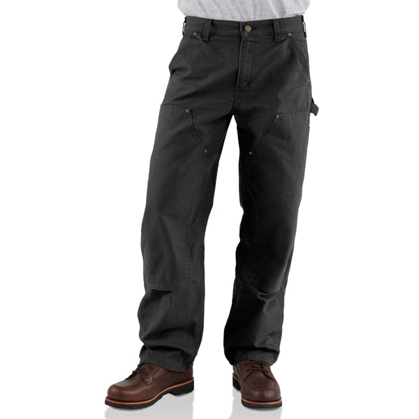 Men's Washed-Duck Double-Front Work Dungaree -  Inseam 32""
