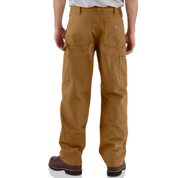 Men's Washed-Duck Double-Front Work Dungaree -  Inseam 32