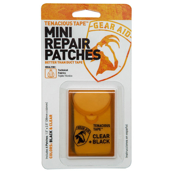 Tenacious Tape Mini Repair Patches Clear and Black
