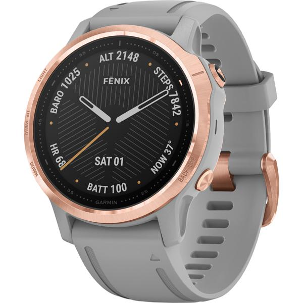 fēnix 6s Sapphire - Rose Gold with Powder Gray Band