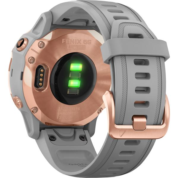 fēnix 6s Sapphire - Rose Gold with Powder Gray Band alternate view