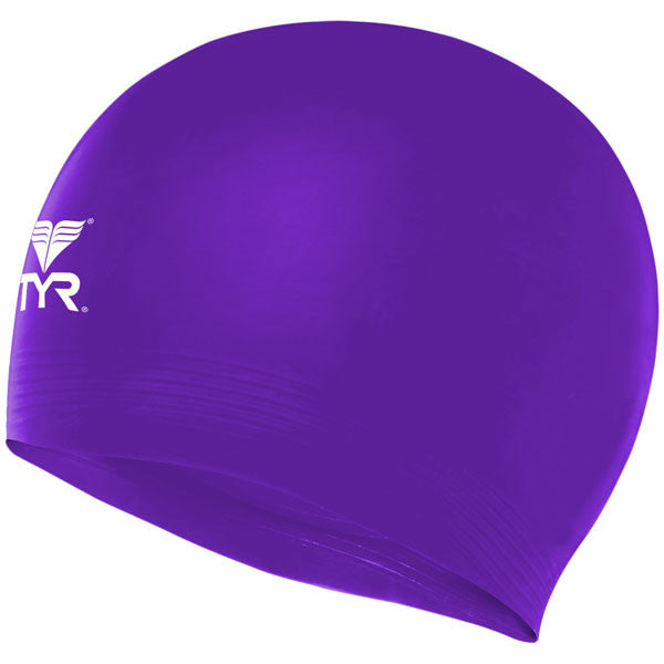 Latex Swim Cap Purple