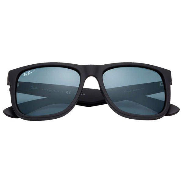Justin - Black Rubber/Dark Blue Polarized