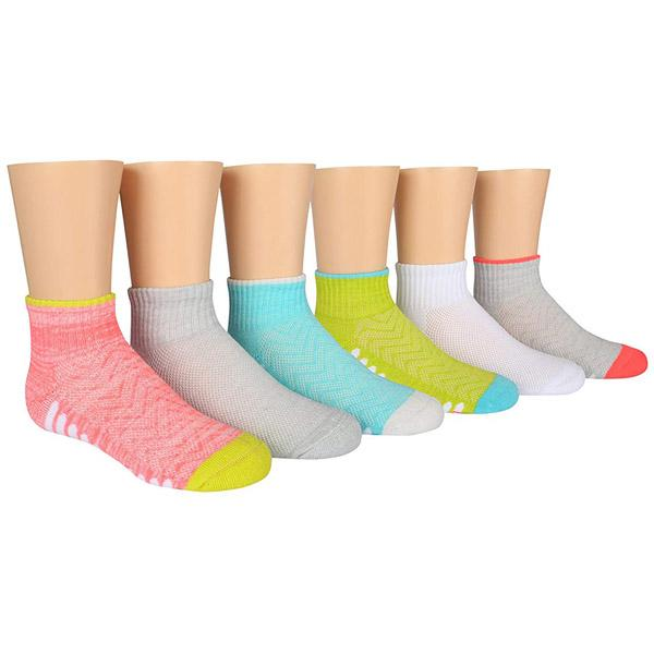 Stride Rite Socks Youth Bailey Made2Play Quarter (6 Pack)
