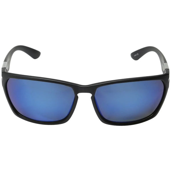 Cutout - Matte Black/Blue Mirror Polarized