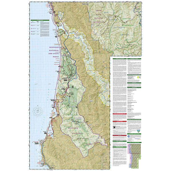 Redwood National and State Parks Map alternate view