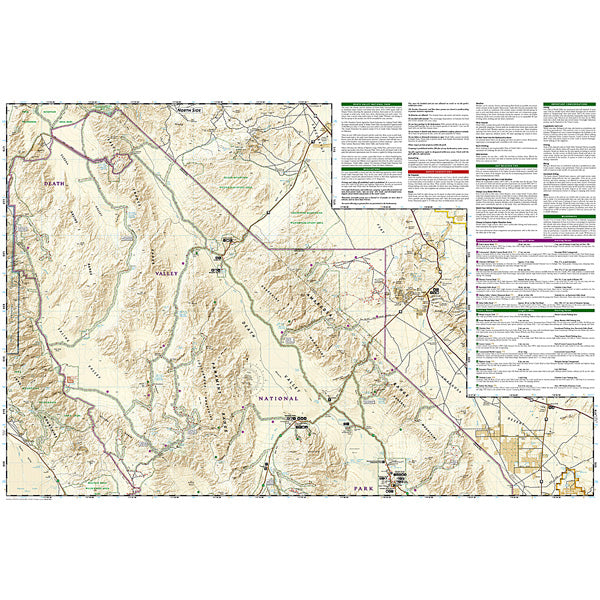 Death Valley National Park Map alternate view
