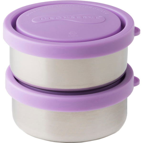 Round Containers, Lavender - 5 oz (Set of 2)