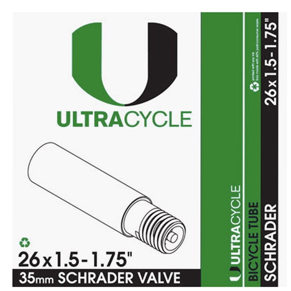 Ultracycle Triple Thick Puncture Resistant Tube Schrader 26 X 1.5-1.75 Bike
