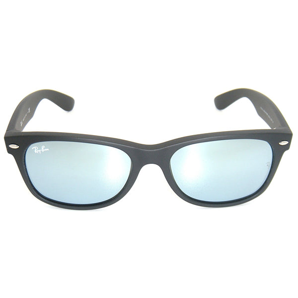 New Wayfarer - Rubber Black/Green Mirror Silver