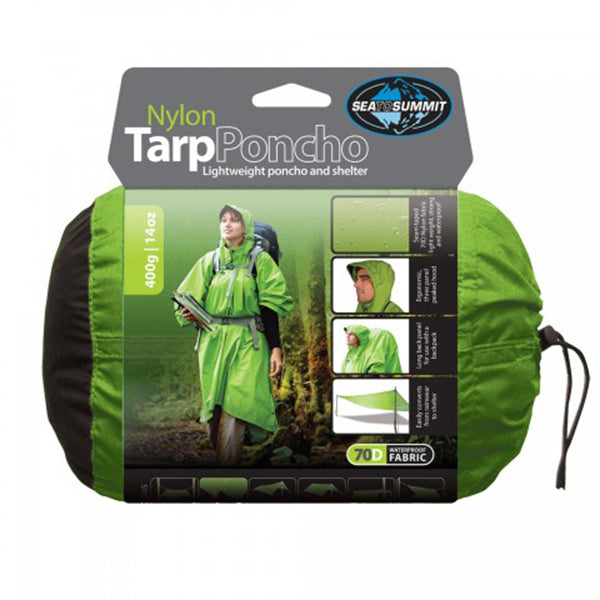 Nylon Tarp Poncho Apple