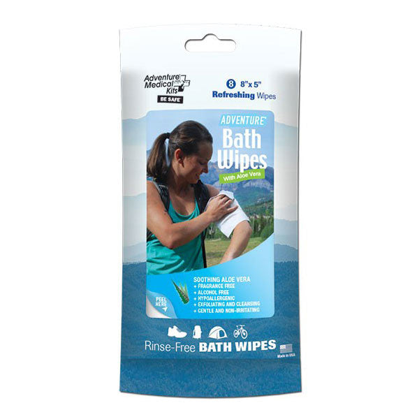 Adventure Bath Wipes Travel Size