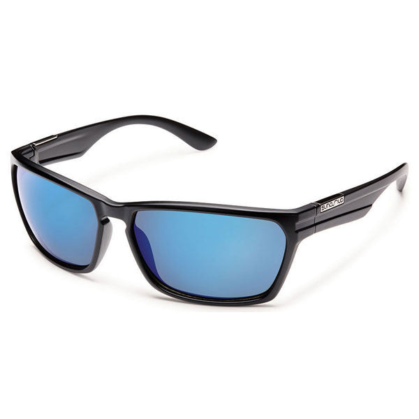 Cutout - Matte Black/Blue Mirror Polarized alternate view