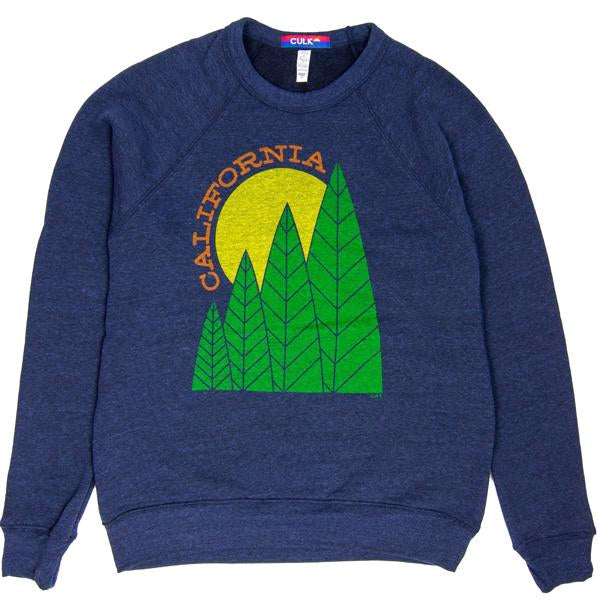 Culk Men's California Tree Sun Crewneck Sweatshirt