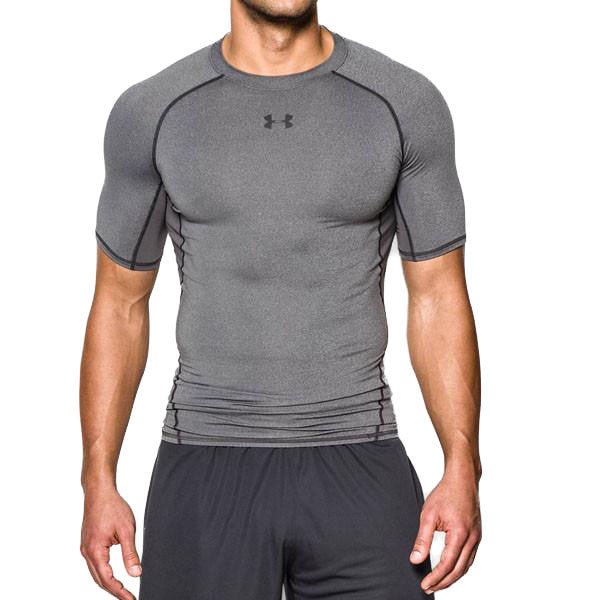Men's Heatgear Armour Comp Short Sleeve - Carbon featured view