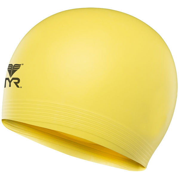 Latex Swim Cap Fl Yellow