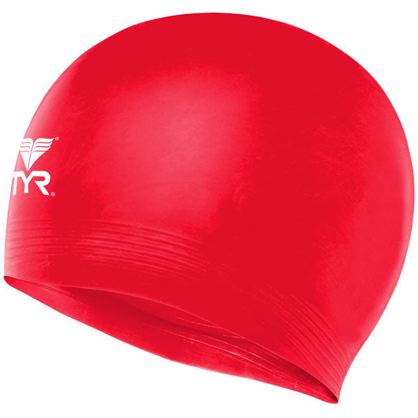Latex Swim Cap Red