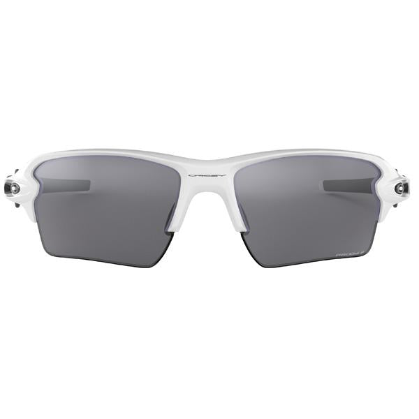 Flak 2.0 XL - Polished White/Prizm Black Polarized
