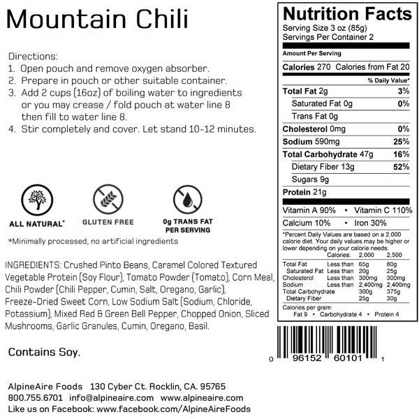 Mountain Chili (2 Servings) alternate view
