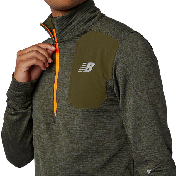 Men's NB Heat Grid 1/2 Zip alternate view