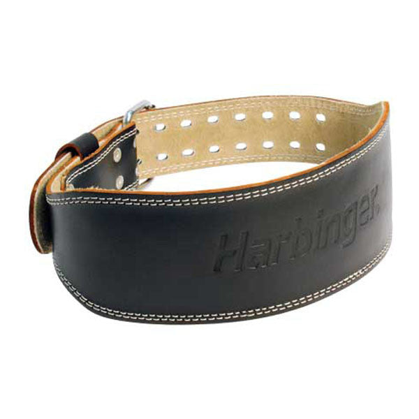 4In Padded Leather Belt Black