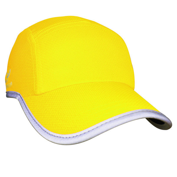 Race Hat - High Viz Yellow Reflective