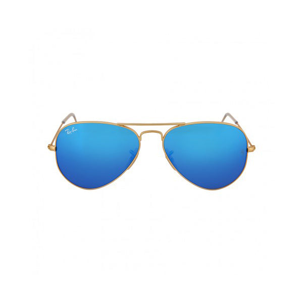 Aviator - Matte Gold/Blue Mirror Polarized
