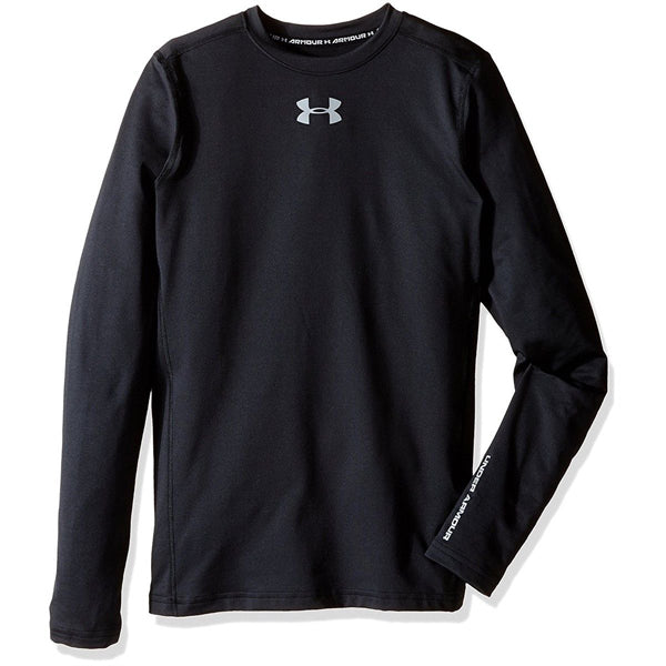 Boys' UA Coldgear Armour Crew Long Sleeve