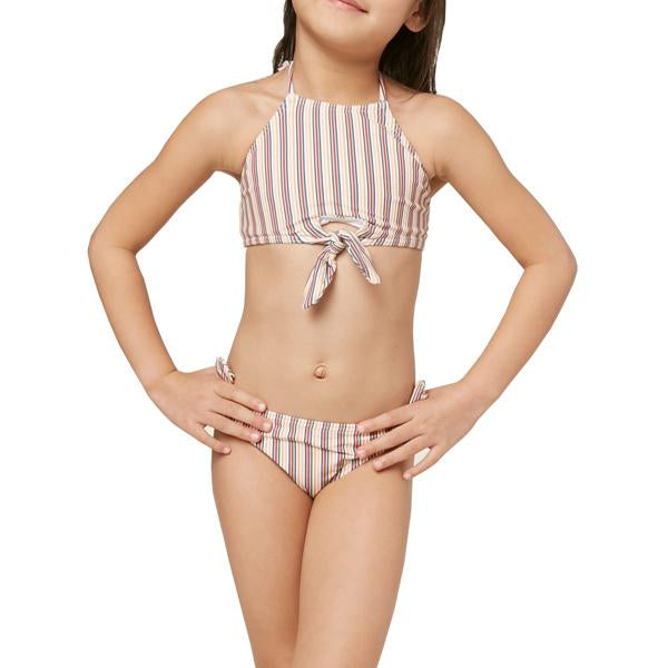 Girls' Sunday Stripe Hi-Neck Swim Set