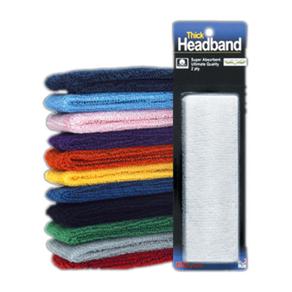 Thick Headband 2 Ply Navy