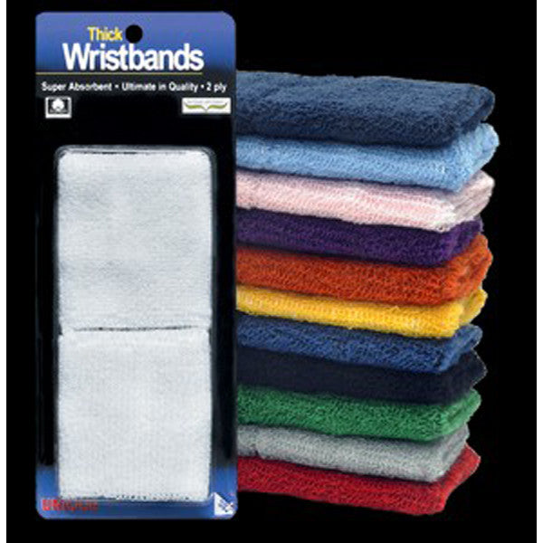 Thick Wristband 2 Ply White