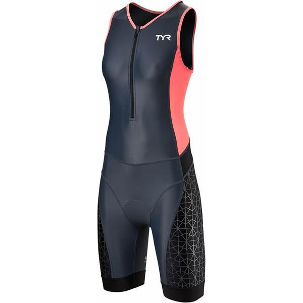 TYR Women's Competitor Tri Suit - Grey/Coral