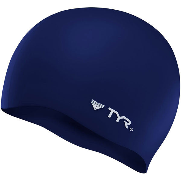 TYR Wrinkle Free Silicone Cap - Navy