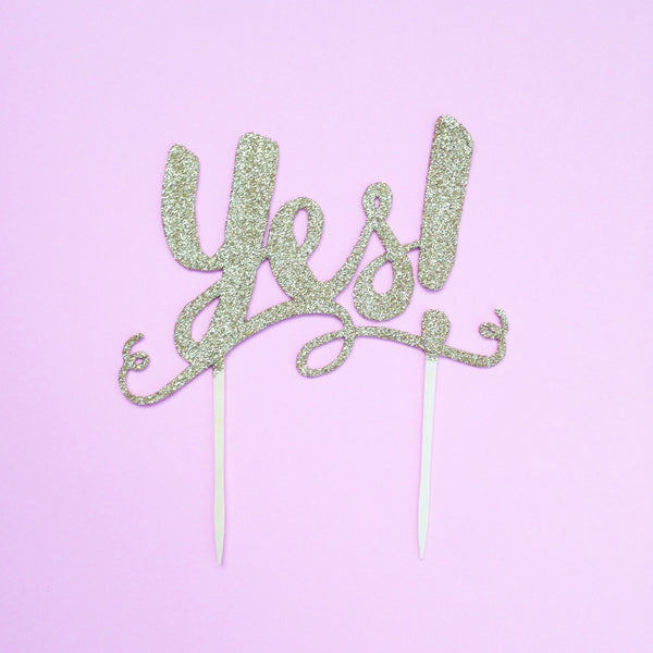 'YES!' CAKE TOPPER