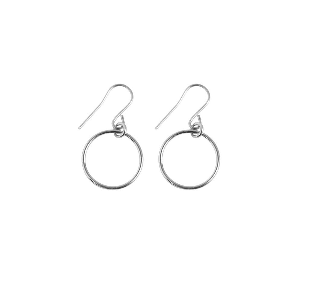 Misuzi Mini Ring Earrings Silver