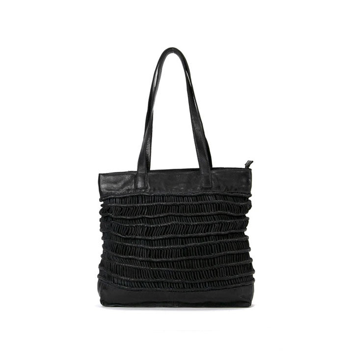 Mahson & Co A Wandering Gypsy Shopper Bag Black