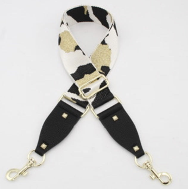 Hi Ho Silver Bag Strap White Gold Camo