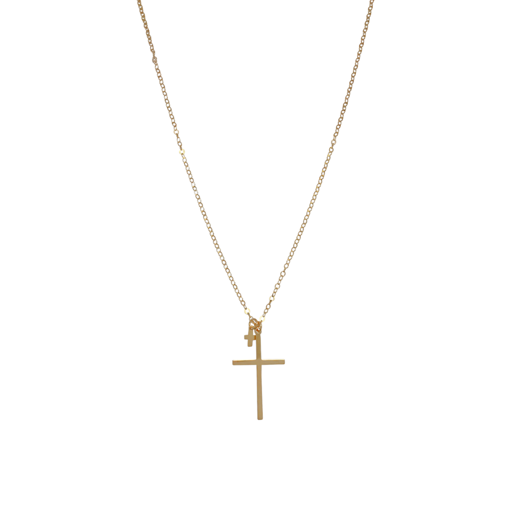 Misuzi Lana Double Cross Necklace Gold