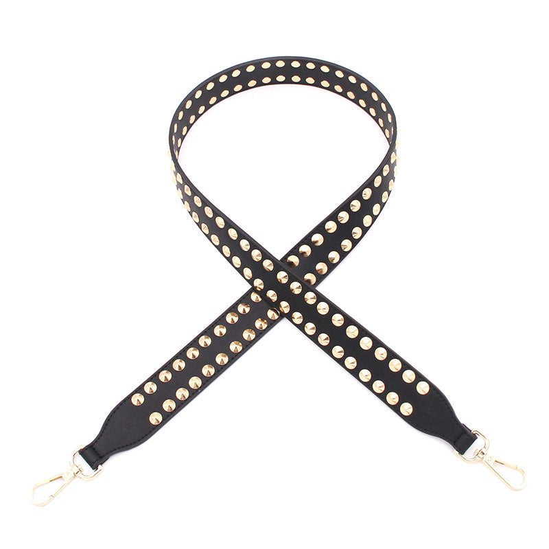 Hi Ho Silver Bag Strap Stud Black Gold