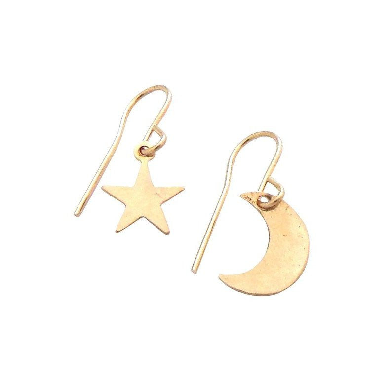 MISUZI Asher Star & Moon Earrings
