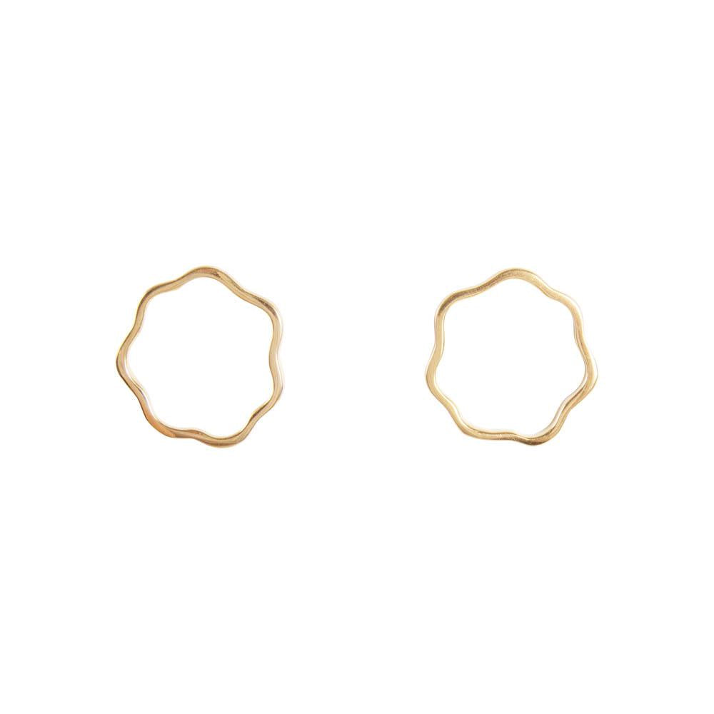 Floral Studs Gold