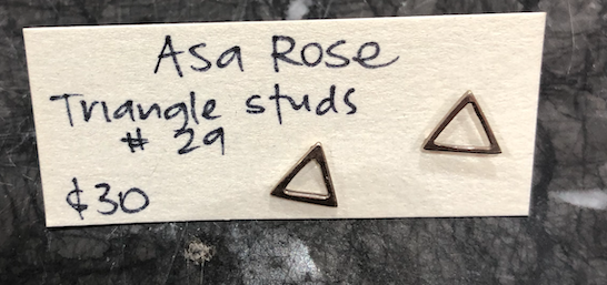 ASA ROSE TRIANGLE STUD Silver O/S