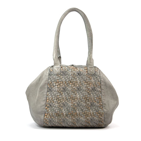 Mahson & Co A Hint of Metallic Shoulder Bag Grey