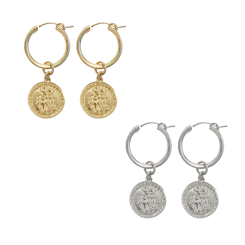 Misuzi Paris Hoop St Christopher Gold