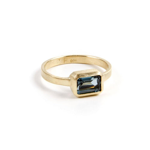 London Blue Topaz Deco Ring