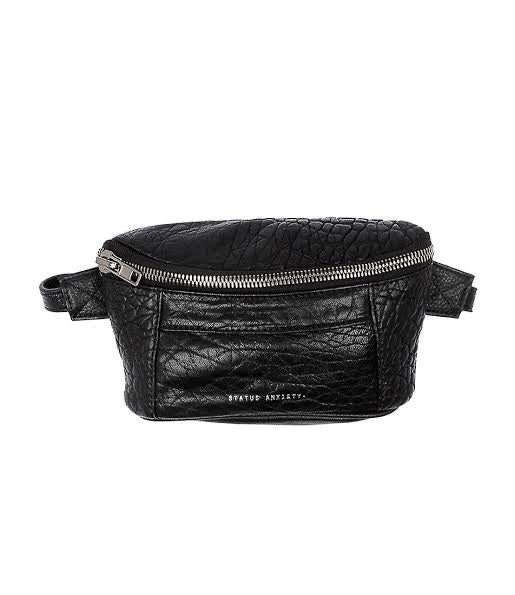 Status Anxiety Best Lies Bum Bag Bubble Black