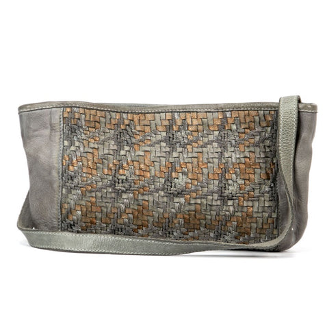 Mahson & Co A Hint of Metallic Clutch Grey