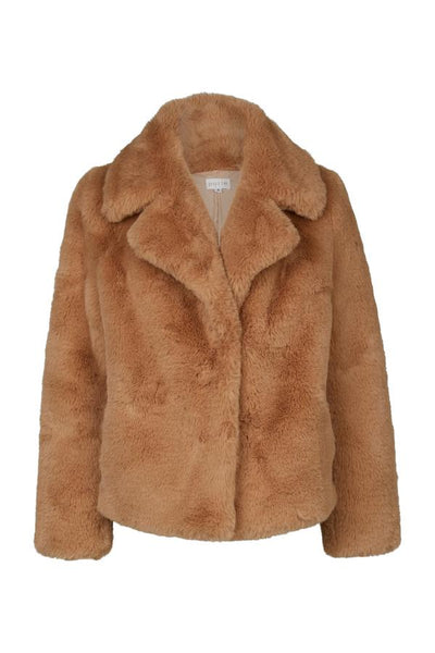 Purle Teddy Coat Light Camel