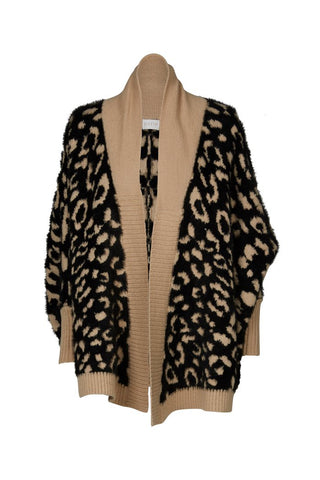 Purle Brooklyn Cardigan Black/Camel